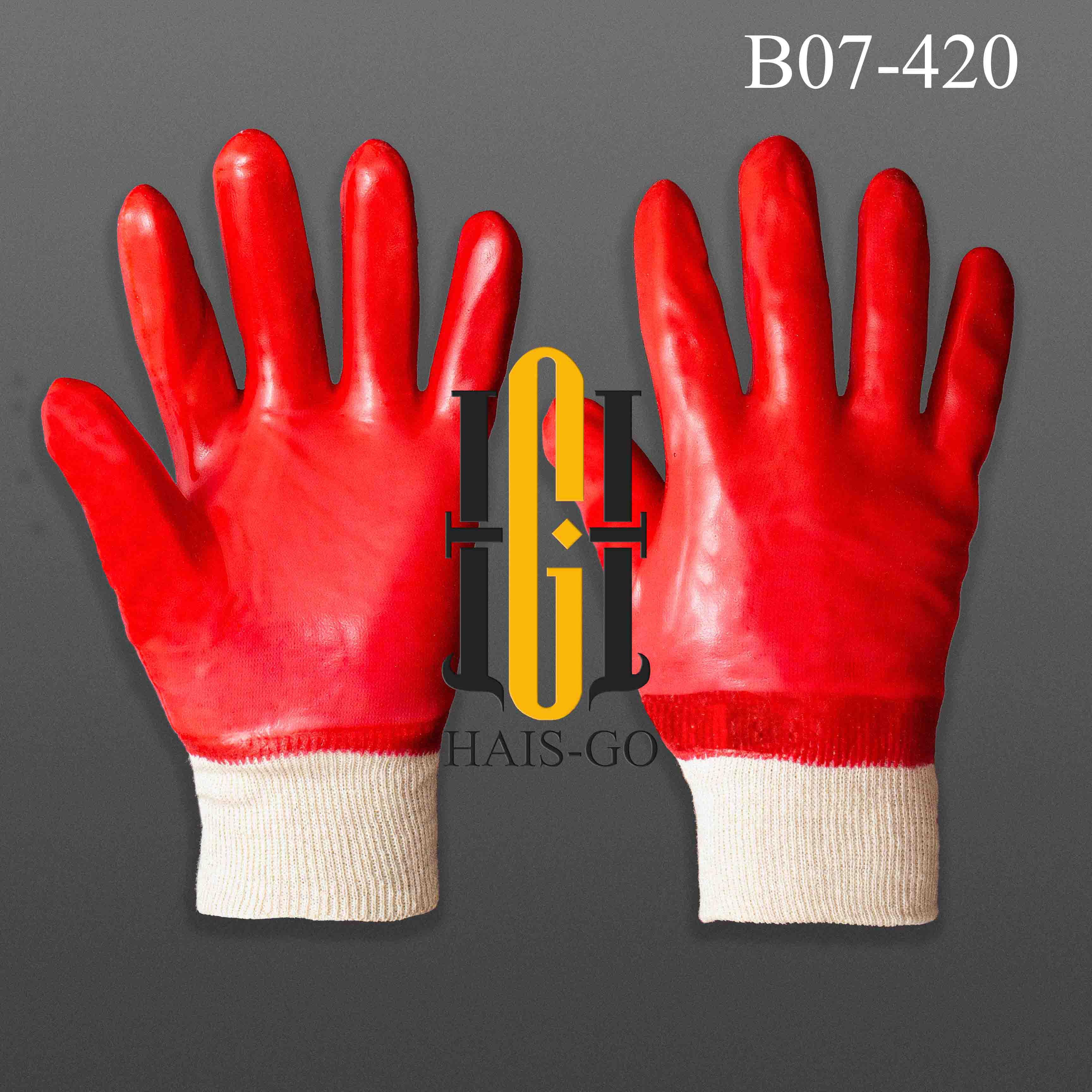 PVC Масловой рабочий перчатка с начёс и без начёс